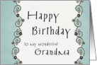 Happy Birthday to my wonderful Grandma card