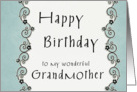 Happy Birthday to my wonderful Grandmother card