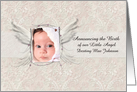 Announcing the Birth of our Little Angel Photo Card Customizable card