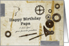 Have Birthday Papa I Love you your favorite grandson card