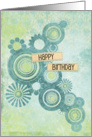 Happy Birthday Circles and Flowers card