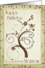 Happy Birthday to a wonderful Mamaw Swirl Tree card