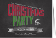 Chalkboard Christmas Party Invitation card