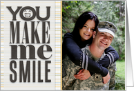 You Make Me Smile Photo Card