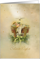 Silent Night Manger card