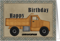 Happy Birthday Truck Customizable card