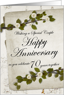 Wishing a Special Couple Happy Anniversary 70 Years together card