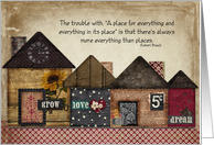 Congrats New Home, The trouble with a place for everything card