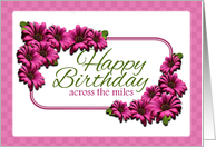 Birthday, Across the Miles, Pink Daisies card