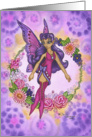 Blank Card - Flower Child Retro Fairy card