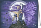 Blank Card - Angelica the Purple Moon Angel card