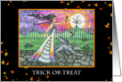 Halloween Card - Fairy and Dragon Trick or Treat Night card