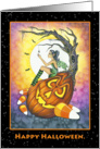 Halloween Card - The Itsy Bitsy Spider Finds a Fairy card