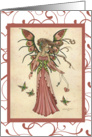 Any Occasion Note Card - The Keeper of Hearts Beautiful Pink Fairy card