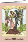 Any Occasion - Blank Note Card - Two Fairies in Love card