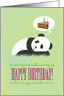 Giant Panda Dreaming of Birthday Cake, Happy Birthday card