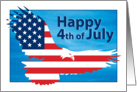 Happy 4th of July American Flag Bald Eagle card