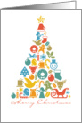 Merry Christmas Icon Tree Collage card
