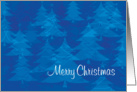 Blue Chritmass Trees, Merry Christmas card