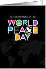 World Peace Day, International Day of Peace card