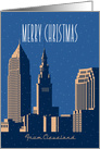 Merry Christmas, Cleveland, Ohio Skyline card