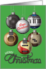Merry Christmas, Cleveland, Rock and Roll Ornaments card