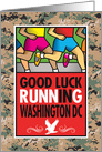 Washington, DC, Military Marathon, Camo Background card