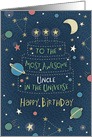 Happy Birthday Most Awesome Uncle in the Universe card
