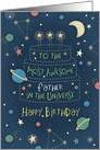 Happy Birthday Most Awesome Father in the Universe card