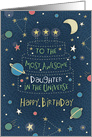 Happy Birthday Most Awesome Daughter in the Universe card