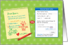 Child's Santa letter vs Internet letter, Merry Christmas card