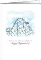 Roller Coaster Wedding Anniversary card