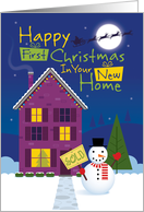 First Christmas in New Home card