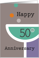 Happy 50th Anniversary Champagne Glass card