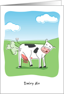 Humorous Birthday, Dairy Air, Cow Passing Gas card