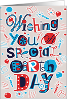Special Birthday card