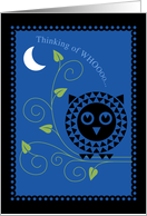 Owl in Tree Under Moon Thinking of You card