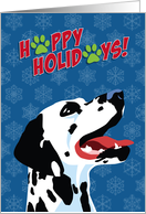 Happy Holidays, From Our Pack to Yours, Dalmatian, Snowflakes card