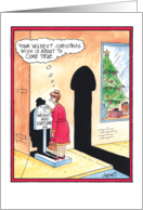 Wildest Christmas Wishes Penis Shadow Adult Humor Christmas card