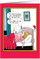 Santa's Sex To Do List Christmas Adult Humor card