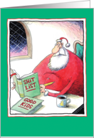 Santa's Shit List Funny Christmas Card