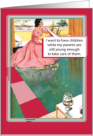 Retro Parents Still Young Humor Mothers Day card