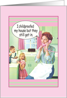 1950's Retro Mom Funny Mother's Day Greeting card