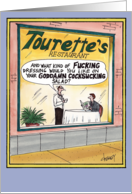 Tourettes Restaurant Funny Card