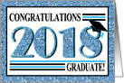 Graduation Congratulations - Class of 2017 Blue Glitz card
