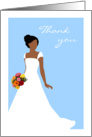 Thank You For Being in My Wedding from African American Bride Blue card