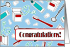 Dental Hygienist Graduation Congratulations Blue card