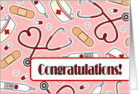 Nurse Graduation Congratulations - Pink card