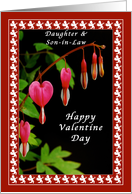 Valentine for Daughter and Son-in-Law, Cupids & Bleeding Hearts card