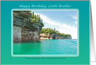 Birthday for Little Brother, Pictured Rocks Park, Michigan card